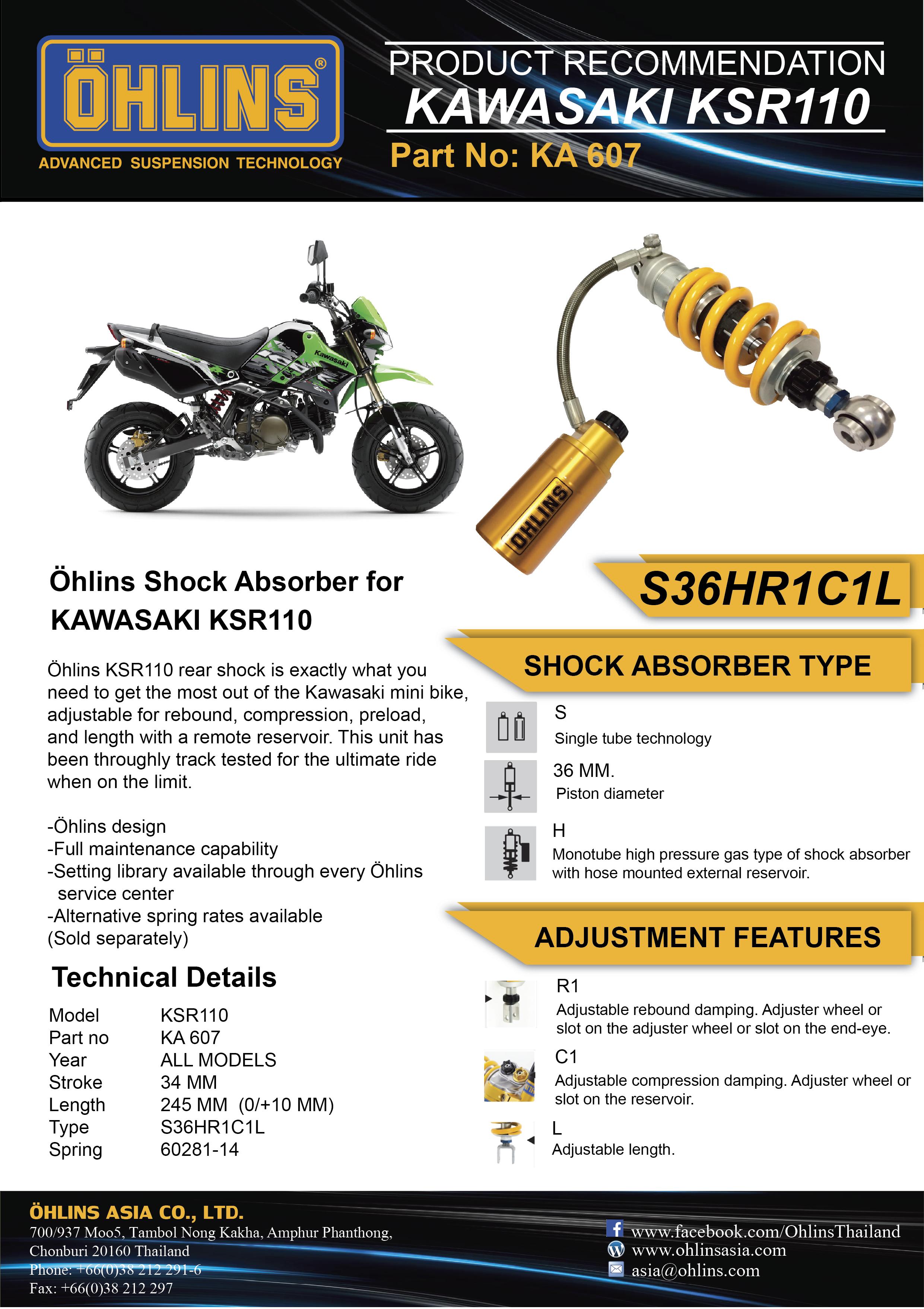 kawasaki ksr110 hlins asia rh ohlinsasia com Kawasaki KSR Mini-Z 800 service manual kawasaki ksr 110 download